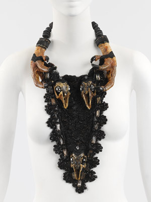 SIMON COSTIN::MEMENTO MORI FOR HIS COMPONENTS :  necklace hematite fashion handmade