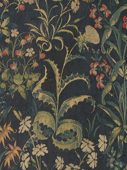 Detail of Silybum marianum from The Unicorn in Captivity, South Netherlands, 1495-1505. Gift of John D. Rockefeller, Jr.,1937.