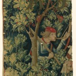 Detail of a holly from The Mystic Capture of the Unicorn