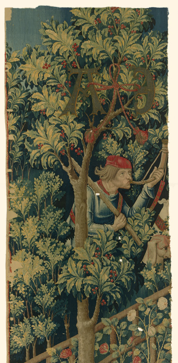Detail of a holly from <em>The Mystic Capture of the Unicorn</em>
