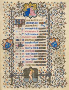 January page from the Belles Heures