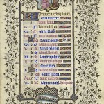February page from the Belles Heures