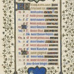 March page from the Belles Heures