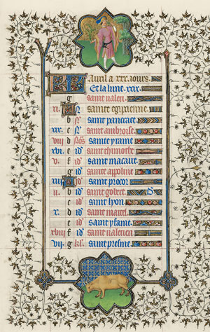 April page from the <em>Belles Heures</em>