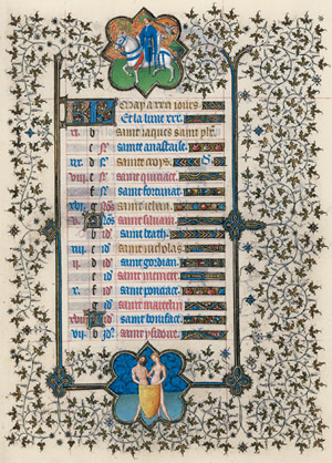 May Page from the <em>Belles Heures</em>