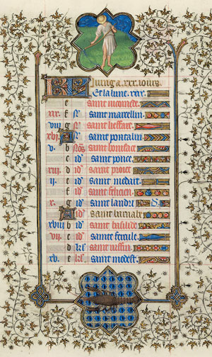 June page from the <em>Belles Heures</em>