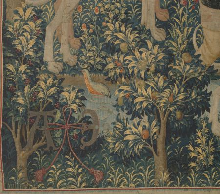 Detail from the Unicorn Tapestry showing a pomegranate