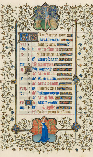 August page from the Belles Heures