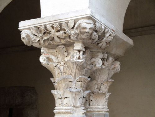 Column in Saint-Guilhem Cloister
