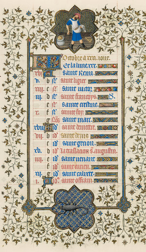 October page from the Belles Heures