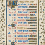 October page from the Belles Heures thumbnail