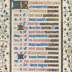 November calendar page from the Belles Heures thumbnail