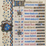 December calendar page from the Belles Heures thumbnail