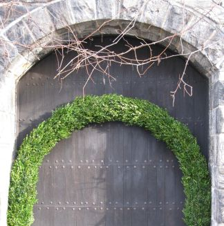 Boxwood-covered Arch