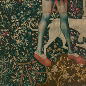 Detail from The Hunters Enter the Woods