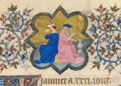 Detail from the January page of the Belles Heures