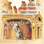 February Activity page from The Hours of Jeanne d'Évreux