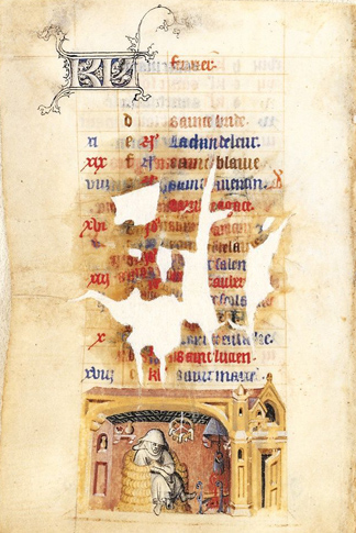 February Activity from The Hours of Jeanne d'Évreux