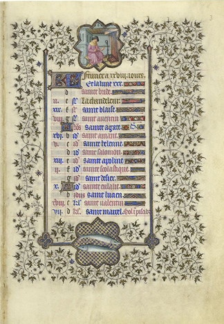 February page from the <em>Belles Heures</em>