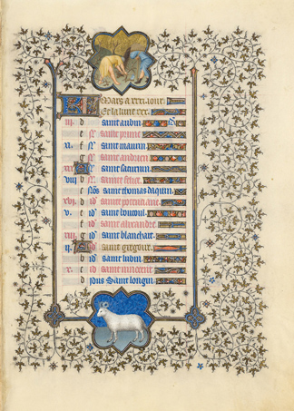 March page from the <em>Belles Heures</em>