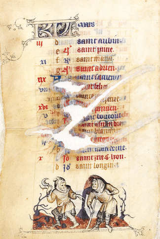 March Activity from The Hours of Jeanne d'Évreux