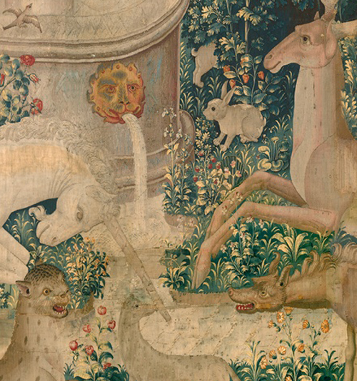 Detail from The Unicorn is Found