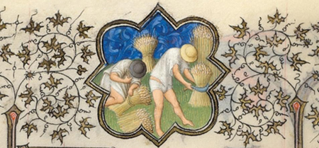 Detail of July Calendar Page from the Belles Heures