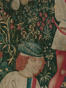 Detail from The Hunters Enter the Woods (from the Unicorn Tapestries)
