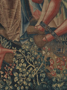 Bramble Detail from <em>Christ is Born as Man's Redeemer (Episode from The Story of the Redemption of Man)</em>