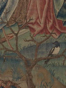 Magpie Detail from Christ is Born as Man's Redeemer (Episode from The Story of the Redemption of Man)