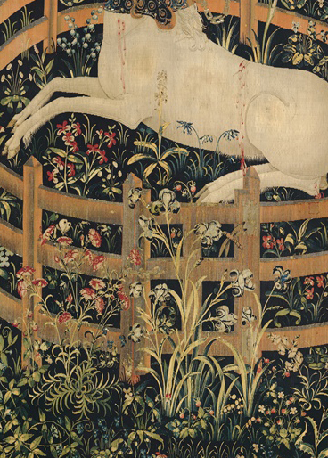 Detail from The Unicorn in Captivity