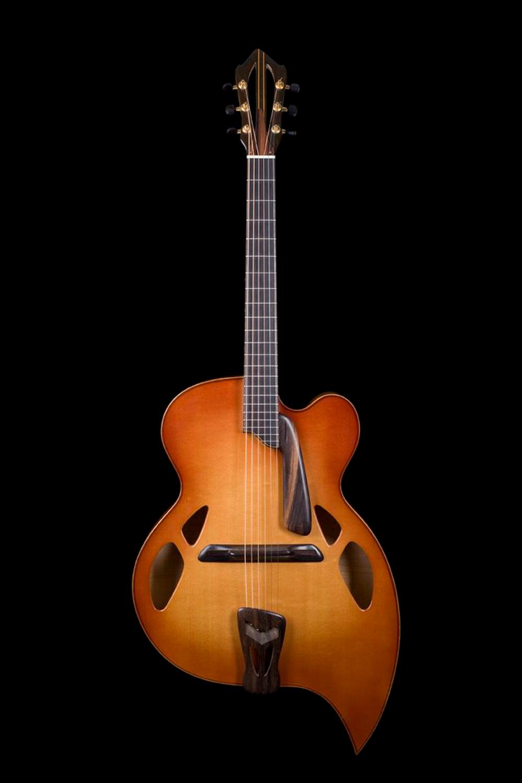 archtop guitar  solo model  u201cteardrop  u201d 1993