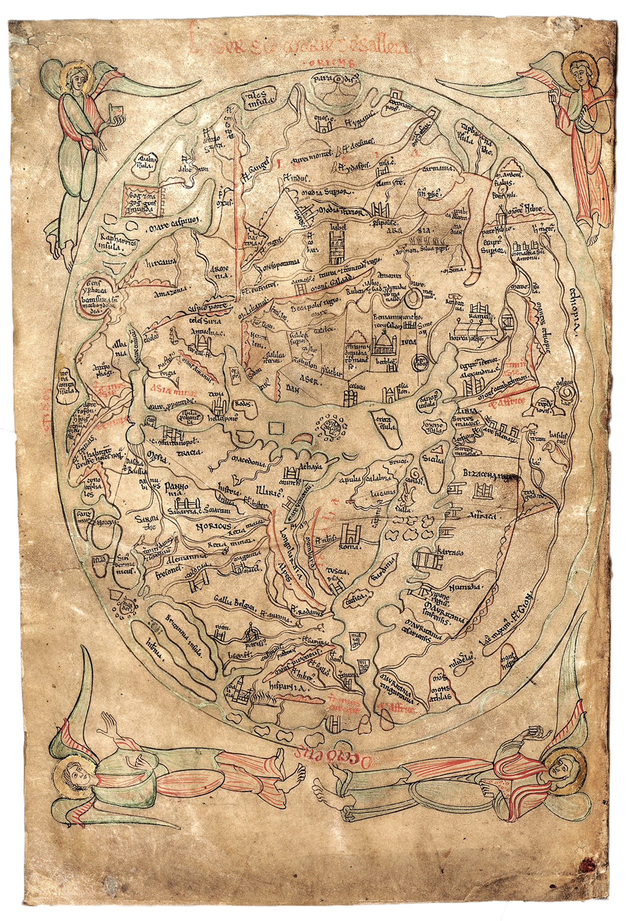 Map Pen And Parchment Drawing In The Middle Ages - Us parchment map