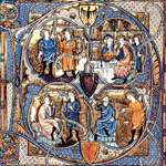 Full-Page Initial from the Tickhill Psalter