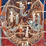 First Full-Page Partially Painted Initial from the Tickhill Psalter
